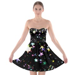 Star Ball About Pile Christmas Strapless Bra Top Dress