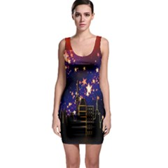 Star Advent Christmas Eve Christmas Sleeveless Bodycon Dress