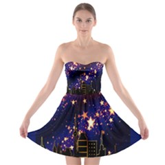 Star Advent Christmas Eve Christmas Strapless Bra Top Dress