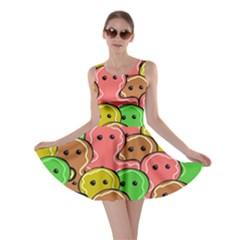 Sweet Dessert Food Gingerbread Men Skater Dress