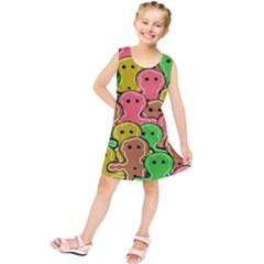Sweet Dessert Food Gingerbread Men Kids  Tunic Dress