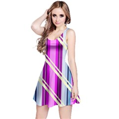 Texture Surface Stripes Lines Reversible Sleeveless Dress