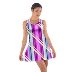 Texture Surface Stripes Lines Cotton Racerback Dress