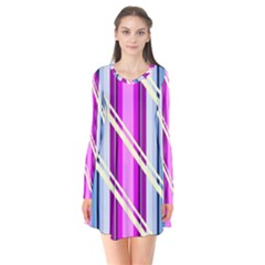 Texture Surface Stripes Lines Flare Dress