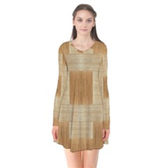 Texture Surface Beige Brown Tan Flare Dress