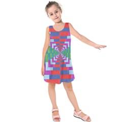 Texture Fabric Textile Jute Maze Kids  Sleeveless Dress