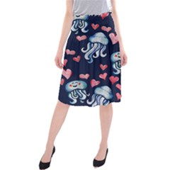Jellyfish Love Midi Beach Skirt