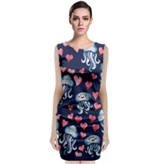 Jellyfish Love Classic Sleeveless Midi Dress