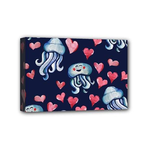 Jellyfish Love Mini Canvas 6  X 4