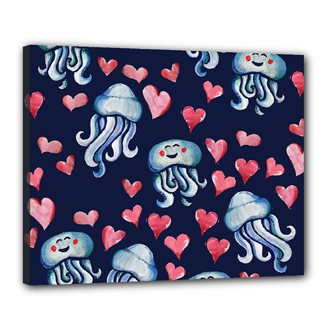 Jellyfish Love Canvas 20  X 16