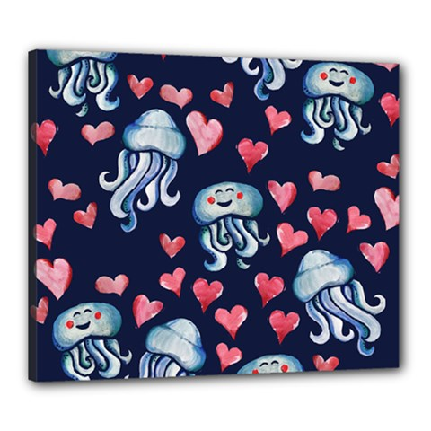 Jellyfish Love Canvas 24  X 20