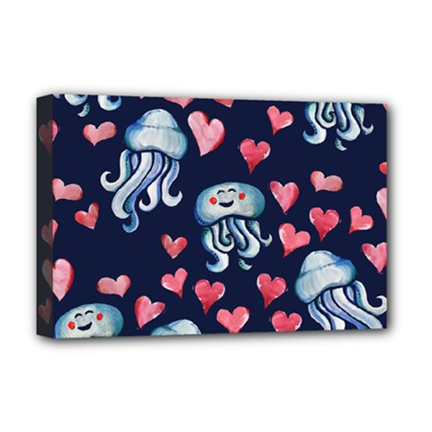 Jellyfish Love Deluxe Canvas 18  X 12