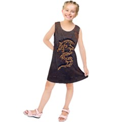 Awesome Dragon, Tribal Design Kids  Tunic Dress