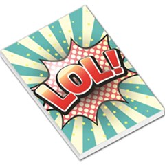 Lol Comic Speech Bubble Vector Illustration Large Memo Pads
