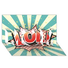 Lol Comic Speech Bubble Vector Illustration MOM 3D Greeting Card (8x4)