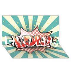Lol Comic Speech Bubble Vector Illustration Engaged 3d Greeting Card (8x4)