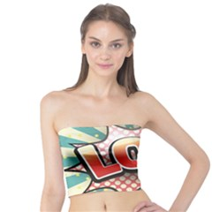 Lol Comic Speech Bubble Vector Illustration Tube Top