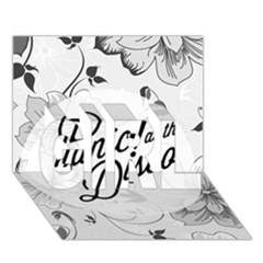 Panic At The Disco Flowers Girl 3d Greeting Card (7x5)