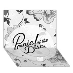 Panic At The Disco Flowers Circle Bottom 3d Greeting Card (7x5)