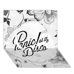Panic At The Disco Flowers Circle 3d Greeting Card (7x5)
