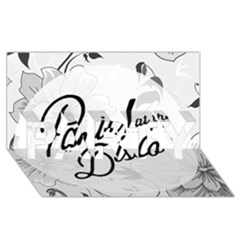 Panic At The Disco Flowers Party 3d Greeting Card (8x4)