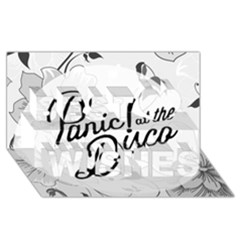 Panic At The Disco Flowers Best Wish 3D Greeting Card (8x4)