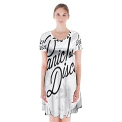 Panic At The Disco Flowers Short Sleeve V Neck Flare Dress