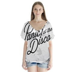 Panic At The Disco Flowers Flutter Sleeve Top