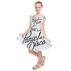 Panic At The Disco Flowers Kids  Short Sleeve Dress
