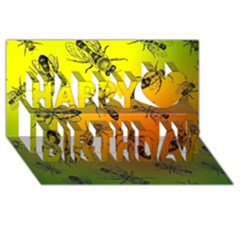 Insect Pattern Happy Birthday 3d Greeting Card (8x4)