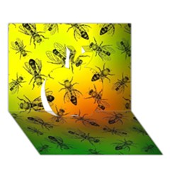 Insect Pattern Apple 3D Greeting Card (7x5)