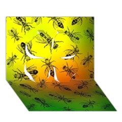 Insect Pattern Clover 3d Greeting Card (7x5)