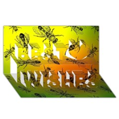 Insect Pattern Best Wish 3D Greeting Card (8x4)