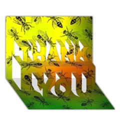 Insect Pattern Thank You 3d Greeting Card (7x5)