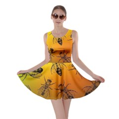 Insect Pattern Skater Dress