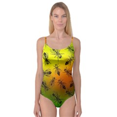 Insect Pattern Camisole Leotard
