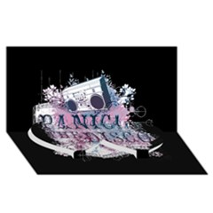 Panic At The Disco Art Twin Heart Bottom 3d Greeting Card (8x4)