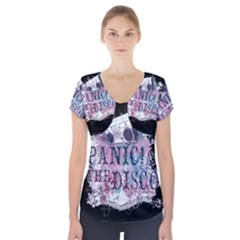 Panic At The Disco Art Short Sleeve Front Detail Top