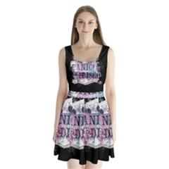 Panic At The Disco Art Split Back Mini Dress