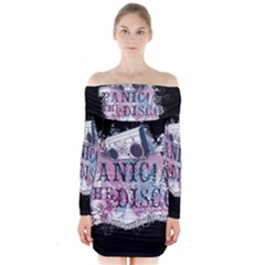 Panic At The Disco Art Long Sleeve Off Shoulder Dress