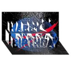 Nasa Logo Happy Birthday 3d Greeting Card (8x4)