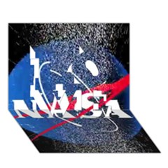 Nasa Logo Love 3d Greeting Card (7x5)