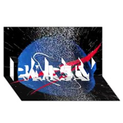 Nasa Logo PARTY 3D Greeting Card (8x4)