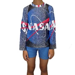 Nasa Logo Kids  Long Sleeve Swimwear