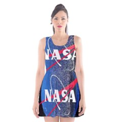 Nasa Logo Scoop Neck Skater Dress