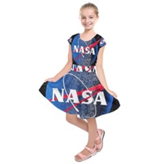Nasa Logo Kids  Short Sleeve Dress