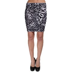 Panic At The Disco Lyric Quotes Retina Ready Bodycon Skirt