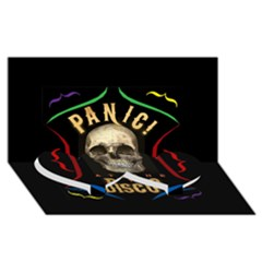 Panic At The Disco Poster Twin Heart Bottom 3d Greeting Card (8x4)