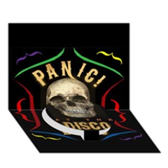 Panic At The Disco Poster Circle Bottom 3d Greeting Card (7x5)