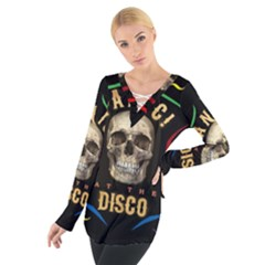 Panic At The Disco Poster Women s Tie Up Tee
